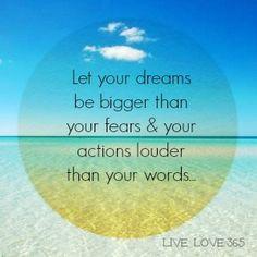 Let your dreams . . .
