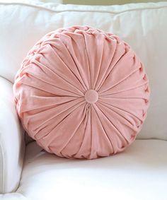 Look at this #zulilyfind! Pink Velvet Throw Pillow #zulilyfinds
