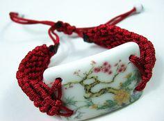 Handmade Adjustable Chinapiece Bracelet by dermusensohn2000, $12.00