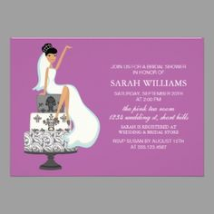 Unique African American Wedding Invitations | See More African American  Bridal Shower Invitations Gifts!