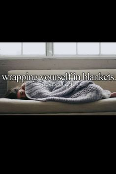 Just girly things. And since I have nothing better to do, I write my story with a cup of cocoa and wrapped up in a blanket. :3 <3