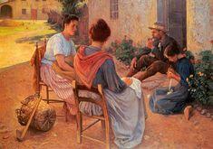 Elin Danielson Gambogi (Norrmak 1861 - Livorno 1919) Famiglia italiana, 1900 Tampereen Taide museo, Finlandia