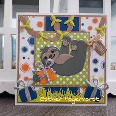 Marianne Design Cards, Elizabeth Craft, Toy Chest, Kids Rugs, Sloths, Animals, Card Ideas, Instagram, Scrapbooking
