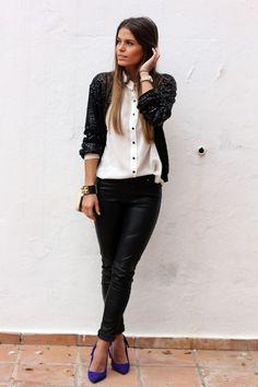 black and white... - Street Fashion