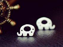 925 sterling silver elephant earring stud earring