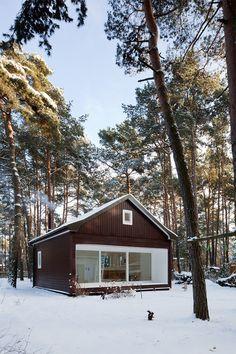 Минималистичный дом в сосновом лесу от компании Atelier ST (описание проекта - http://destads.ru/?p=9616)