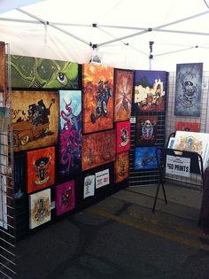 Lozeau Art Booth in Arizona by David Lozeau, via Flickr