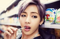 I wanna be that lolly. #BTS #V #Taehyung #BangtanBoys #Army #KimTaehyung #TaeTae