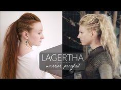 Lagertha Vikings Warrior Ponytail Tutorial - YouTube
