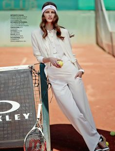 """Tennis Club"" Sona Matufkova for Mirror Magazine May 2015"