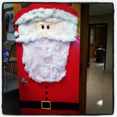 christmas door decorating contest vote now be sure to vote for door 5 aaron office door decorated