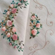 Marvelous Crewel Embroidery Long Short Soft Shading In Colors Ideas. Enchanting Crewel Embroidery Long Short Soft Shading In Colors Ideas. Brazilian Embroidery Stitches, Crewel Embroidery Kits, Types Of Embroidery, Embroidery Supplies, Learn Embroidery, Rose Embroidery, Embroidery Needles, Silk Ribbon Embroidery, Hand Embroidery Designs