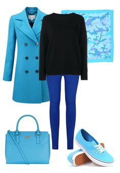 Clear spring has super saturated blues. Rightly so, because they go with a clear spring's bright eyes.  I kept the look simple with bright saturated blues.  If you want add in another color... a saturated lime green would look amazing!  Have fun and wear what you love!  Jen Thoden