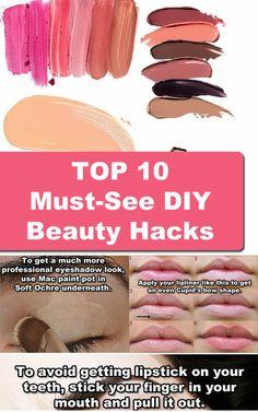 TOP 10 Must-See DIY Beauty Hacks -  #beautytips #beautyhacks #beautyadvice #fashioninspirationblog