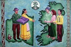 This painting depicts the Choctaw nation giving food aid to the Irish during the famine of 1847. What a beautiful memorial to kindness borne out of common experience of need.