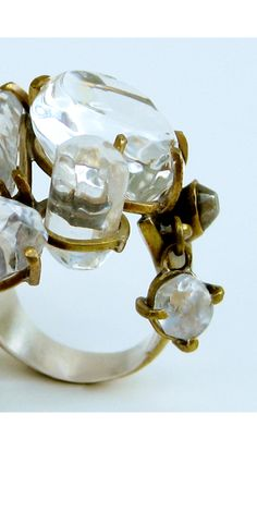 crystal ring by Nikki Couppee
