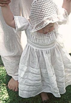 antique baby dress and bonnet ... photo ⓒmonica roberts