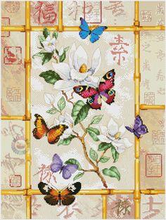 Cross stitch butterflies and chart. Gallery.ru / Фото #1 - 3 - TATO4KA6