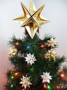 PAPYRUS Origami Christmas Tree Star Topper  Classic by goraygami