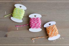 Mini confezione di 5 mt spago, cotone, verde, rosa, arancio - packaging - chiudipacco - tag - etichette