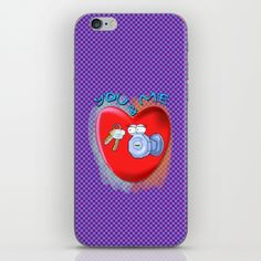 #love #iphonecase #illustration #art #valentine Skins are thin, easy-to-remove, vinyl decals for customizing your device. Skins are made from a patented material that eliminates air bubbles and wrinkles for easy application.