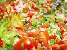 Whole Grain Brown Rice Salad with Lemon-Saffron Dressing. Recipe on Plum Tomatoes, Cherry Tomatoes, Saffron Recipes, Bulgar Wheat, Brown Rice Salad, Whole Grain Brown Rice, Romanian Food, Food 52, Summer Salads