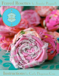 Polka Dot Mom Crafty Moms in Business: Free Tutorial - Frayed Rosettes by SisBoom Fabric Rosette, Fabric Flower Tutorial, Rose Tutorial, Burlap Rosettes, Fabric Ribbon, Faux Flowers, Diy Flowers, Fabric Flowers, Paper Flowers