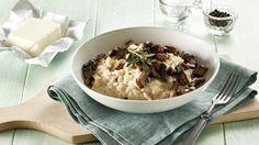 Krémové rizoto s lučinou a houbami  Foto: Risotto, Ethnic Recipes, Food, Essen, Meals, Yemek, Eten