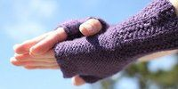 Amethyst Fingerless Mitts