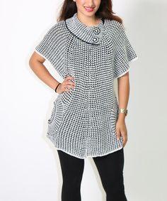 White Asymmetrical Collar Cape-Sleeve Sweater