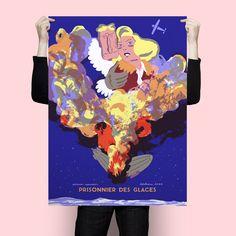 """Affiche """"Zeppelin"""" de Simon Roussin, Impression quadrichromie offset format 70*100 cm"""