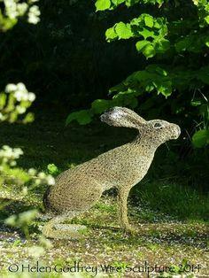 Helen Godfrey Wire Sculpture hare...