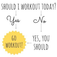 Yes.. Go work out...Women's Fitness Motivation - Visit www.AskTheTrainer.com for more!