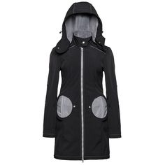 "Liliputi® Mama Coat ""Black-Grey""  http://www.liliputibabycarriers.com/babywearing-mama-coat/mama-coat-black-grey Maternity Coat, Raincoat, Cold, Zipper, Pocket, Grey, Simple Dresses, Fabric, Nike Jacket"