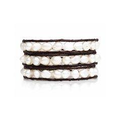 Fresh Water Pearl Cream Wrap Bracelet