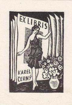 ≡ Bookplate Estate ≡ vintage ex libris labels︱artful book plates - Polivka, Vaclav (1896-1969): Ex Libris Karel Cerny.