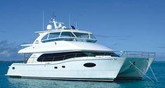 love this boat, Blue Horizon, 58 foot power catamaran by Horizon Power Catamarans
