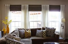 Before we even bought our new home, I started filing away images of ideas for window treatments. They offered to put blinds throughout the...