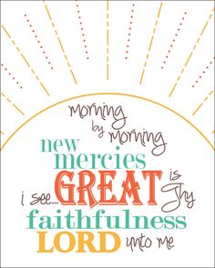 Great is Thy faithfulness art print by printedjoy on Etsy Hymn Quotes, Life Quotes, Scripture Quotes, Bible Verses, Scriptures, 30 Day Art Challenge, Great Quotes, Inspirational Quotes