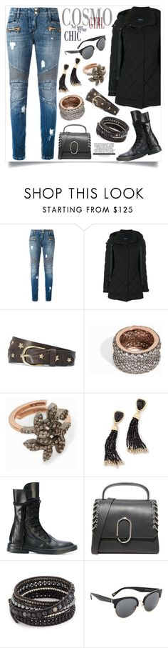 """""""Fabulous"""" by justinallison ❤ liked on Polyvore featuring Balmain, Armani Jeans, MAHA LOZI, Kendra Scott, Ann Demeulemeester, 3.1 Phillip Lim, Chan Luu and Marc Jacobs"""
