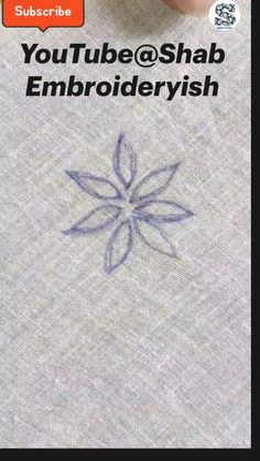 Basic Hand Embroidery Stitches, Hand Embroidery Patterns Flowers, Border Embroidery Designs, Hand Embroidery Videos, Hand Embroidery Tutorial, Simple Embroidery, Learn Embroidery, Embroidery Techniques, Sashiko Embroidery