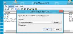 [Tutorial] How To Attach a VHD or VHDX in Disk Management – Windows 8 - In our previous tutorial I showed how to create VHD or VHDX in your Windows 8. Now once you are familiar with that part lets see how you can mount either a VHD or VHDX file as a drive in the computer for all active users in Windows 8. Let me also note that you need to be signed in as an administrator in order to access these options. [Click on Image Or Source on Top to See Full News]