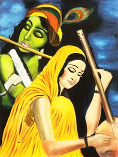 Sri Krishna plays on His Flute.We hear.We barter our body's dust with His Soul's Plenitude. Lord Shiva Painting, Buddha Painting, Krishna Painting, Krishna Art, Lord Krishna, Radhe Krishna, Shree Krishna, Krishna Images, Indian Art Paintings