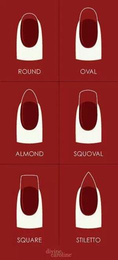 Nail Shapes. I love the squoval.