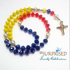 Rosary Necklace, Christian Jewelry, Mother Gifts, Primary Colors, Swarovski Crystals, Jewelry Box, Jewelry Design, Beaded Bracelets, Jewels