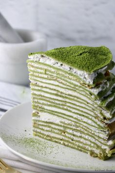 Vegan Matcha Crepe Cake