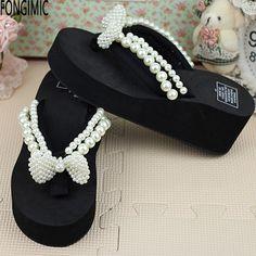 $24.00 (Buy here: https://alitems.com/g/1e8d114494ebda23ff8b16525dc3e8/?i=5&ulp=https%3A%2F%2Fwww.aliexpress.com%2Fitem%2F2016new-top-sale-women-summer-thick-bottom-wedges-comfortable-beach-shoes-ladies-bowtie-fashion-flip-flops%2F32700216061.html ) 2016new top sale women summer thick bottom wedges comfortable beach shoes ladies bowtie fashion flip flops with Rhinestone  for just $24.00