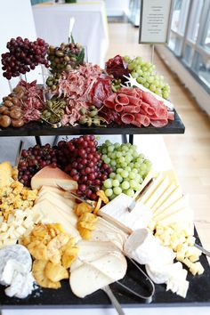 If you're trying to impress your guests, this charcuterie and cheese platter is sure to do the trick.