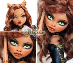 """RESERVED Listing OOAK Monster High Custom Doll Repaint 17"""" by ~ Rogue Lively ~"""