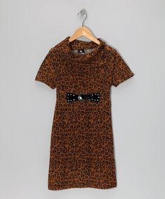 Take a look at this Brown Cheetah Sweater Dress - Girls by Star Ride on #zulily today!